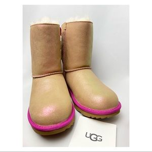 UGG Bailey Bow II Shimmer Boots NEW